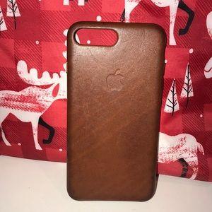 Leather iPhone 7-8 Plus case